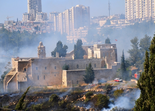 picture of fire in Jerusalem