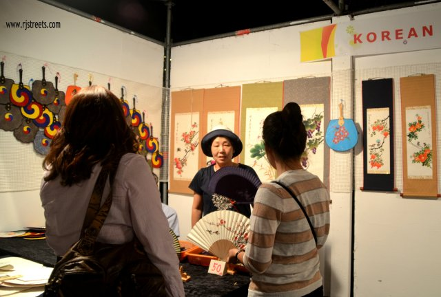 image vendor at international arts fair