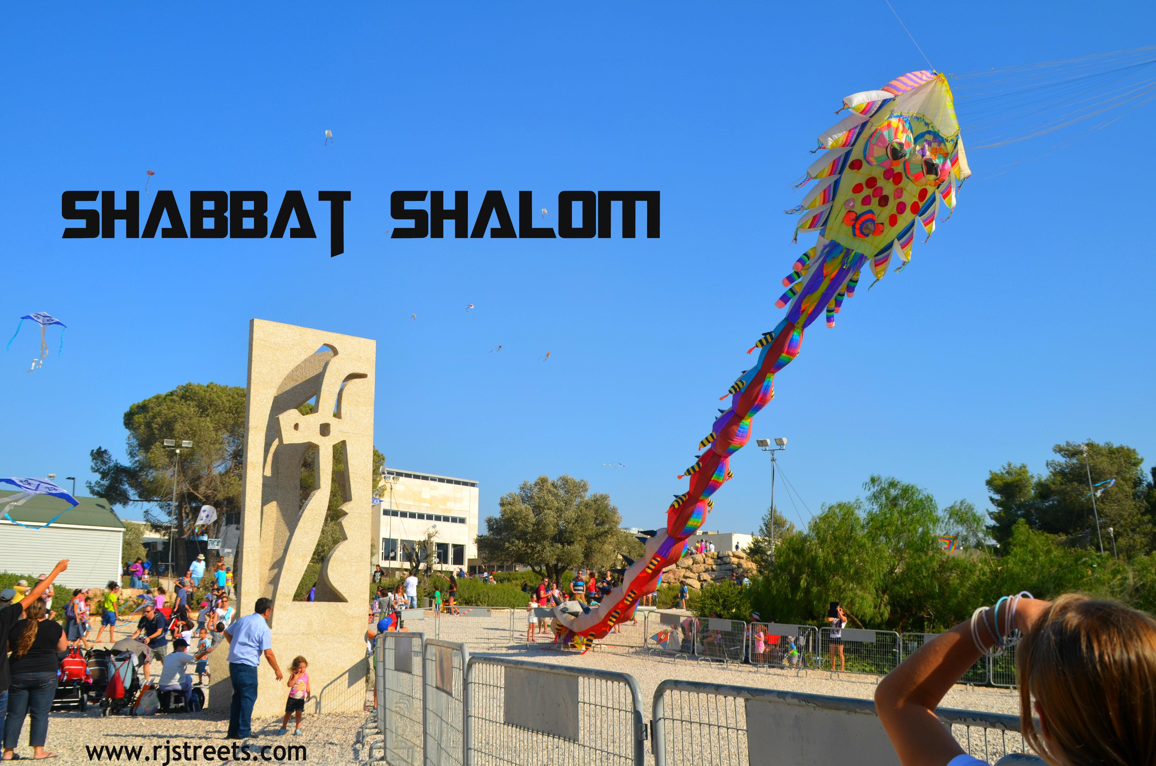Shabbat shalom , Israel museum kite festival