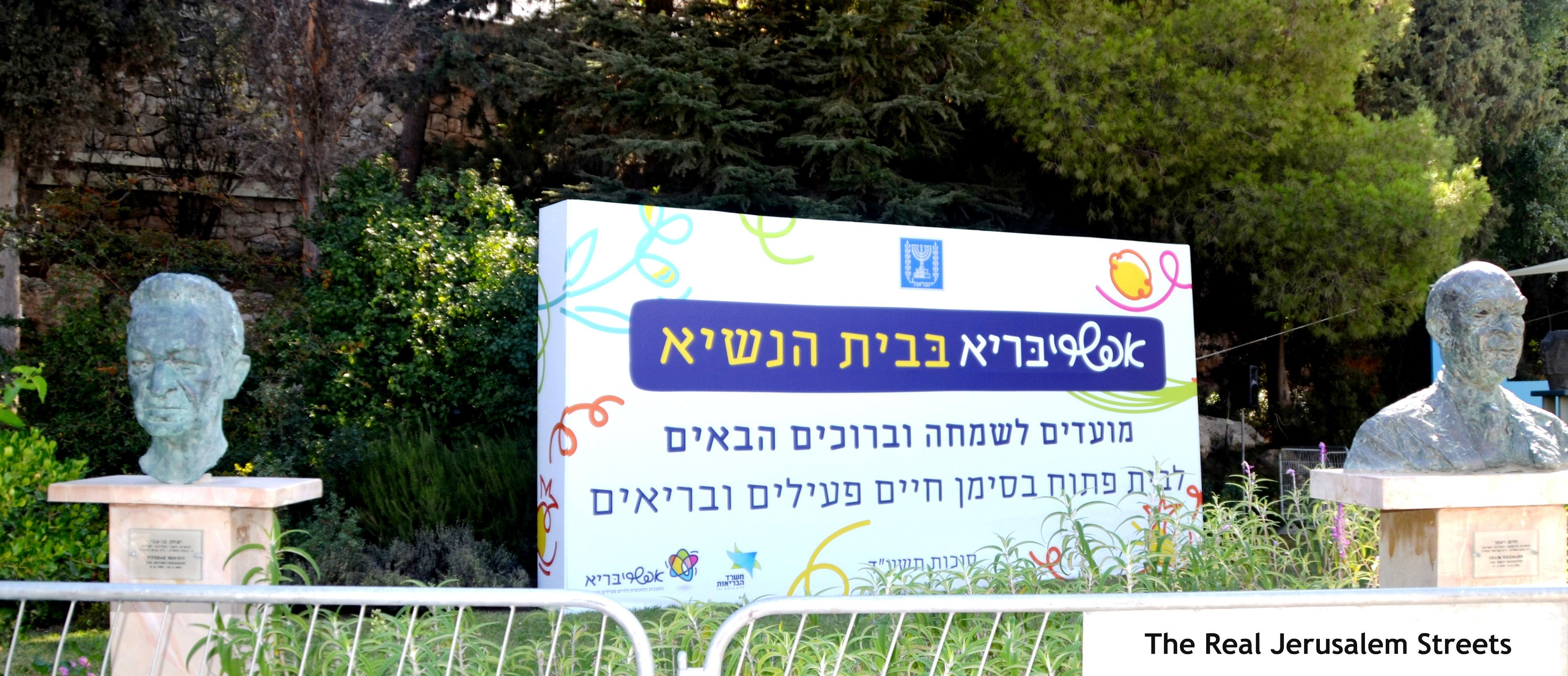 Israeli president garden image