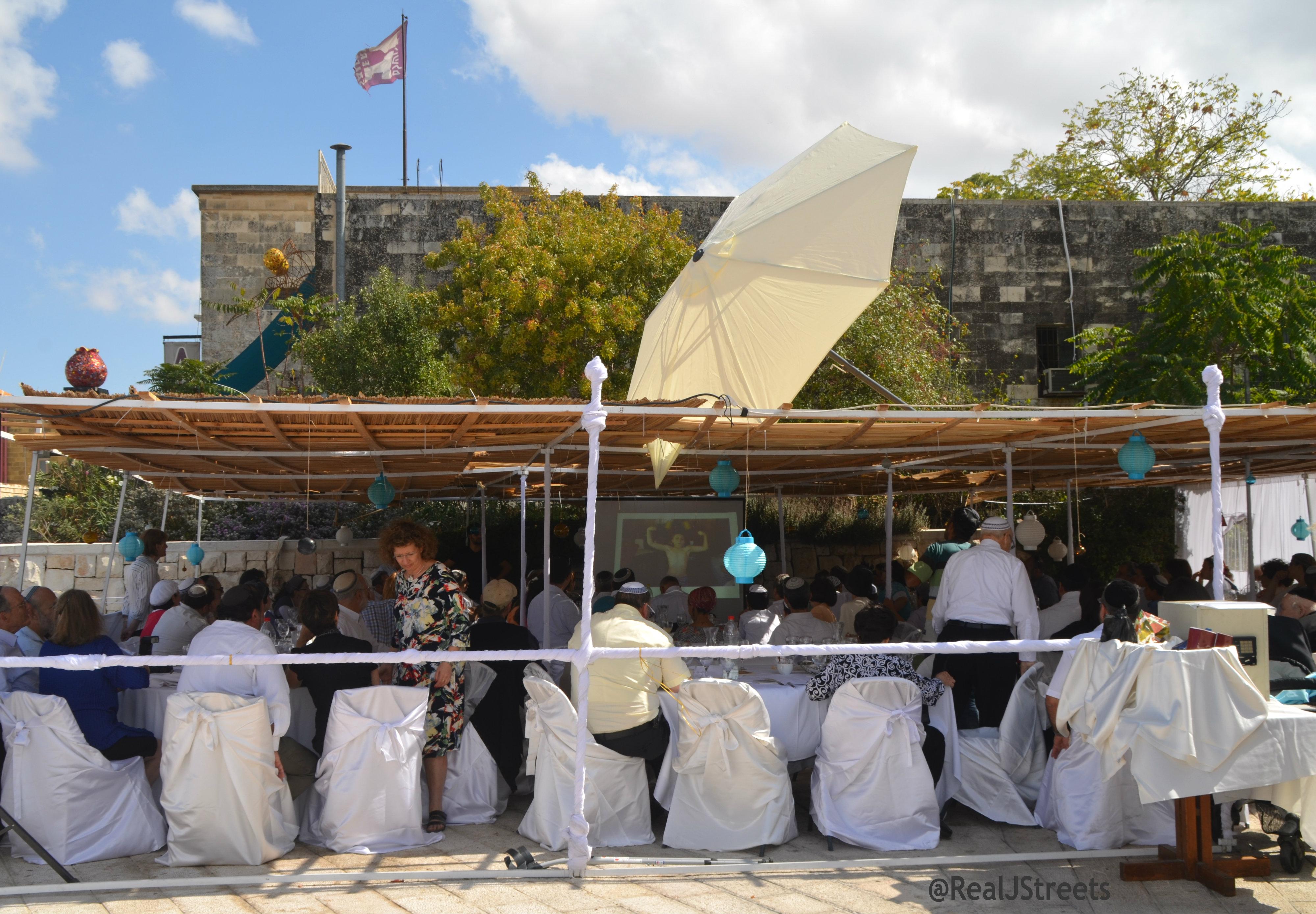 Sukkah open walls image