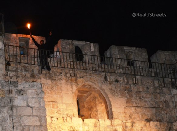 image walls Old City , photo fire, picture Old City walls night