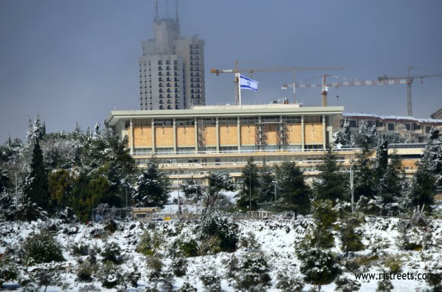 image snow Jerusalem, Picture snow Knesset , photo snow Jerusalem