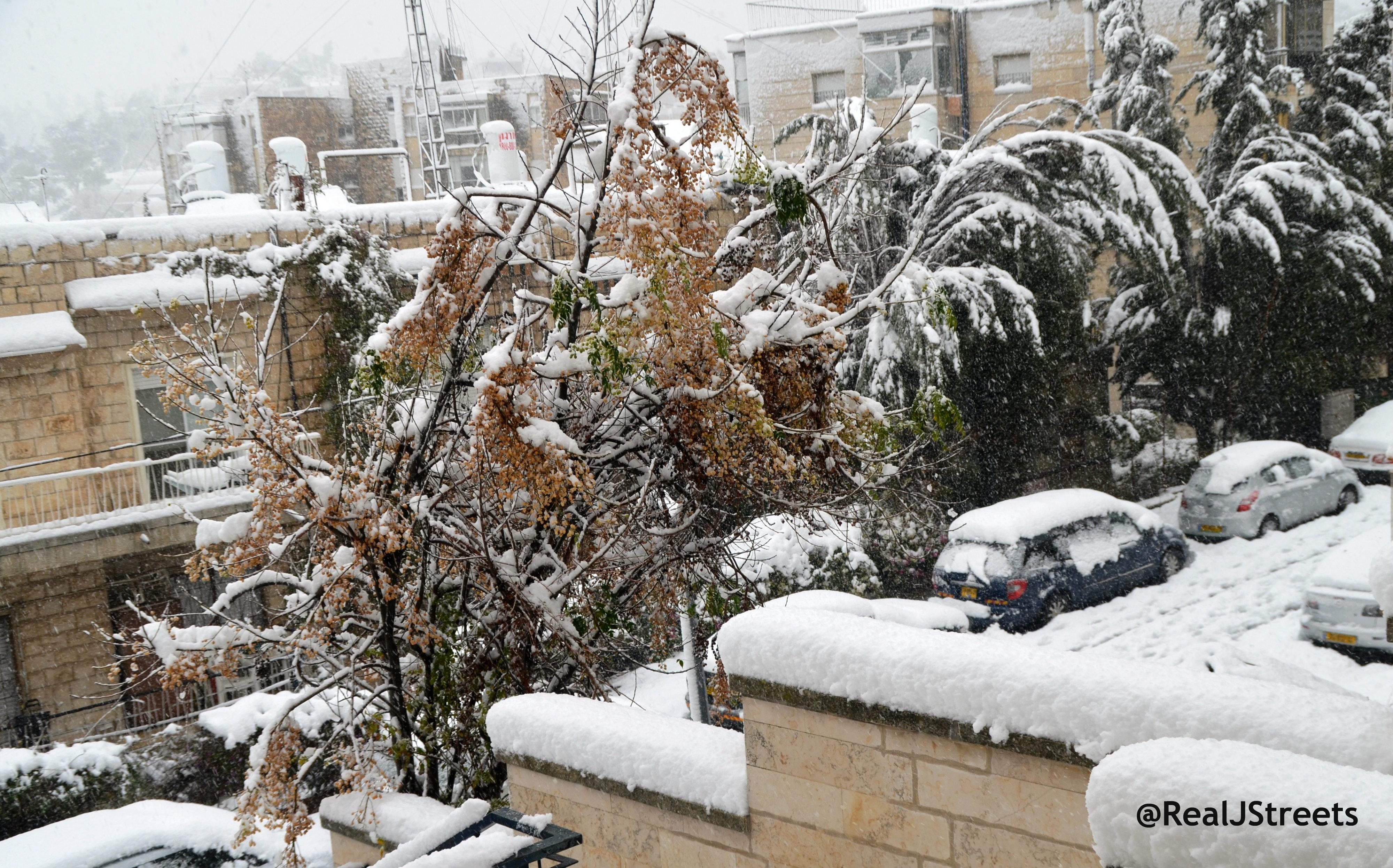image Jerusalem snow, picture snow Jerusalem