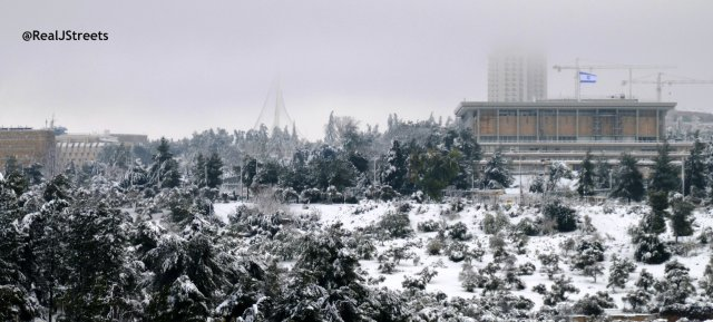 Jerusalem image snow, picture Jerusalem snow, Israel under snow picture
