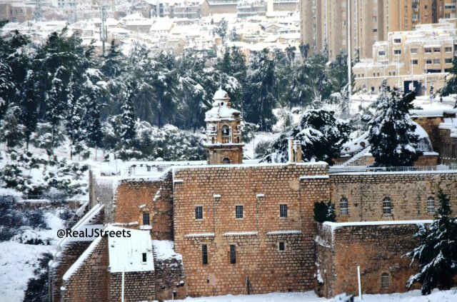 image Jerusalem snow, photo snow in Jerusalem, picture Jerusalem snow storm