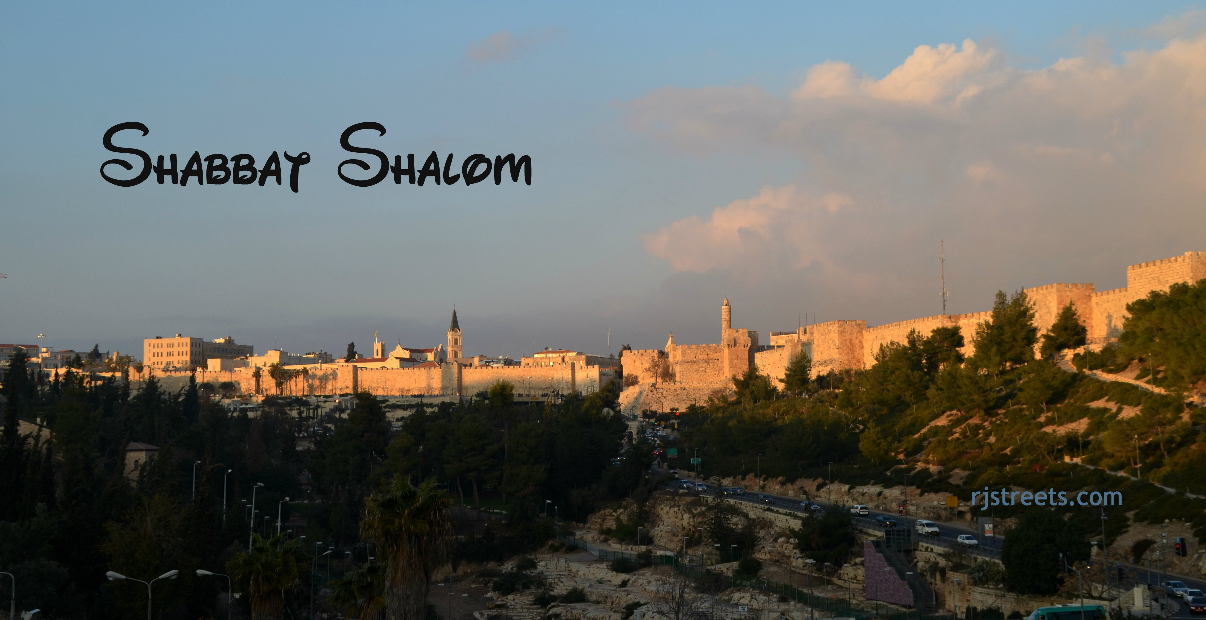 image Shabat shalom, photo Old City Walls, Jerusalem photo