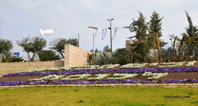 image blimp, photo Knesset in flowers, picture Knesset