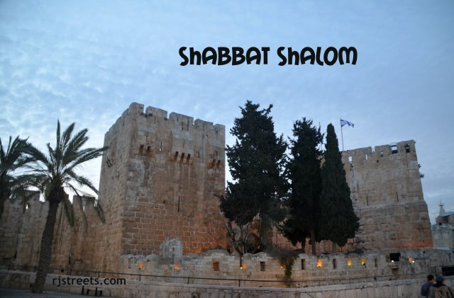 Photo Tower of David, picture Tower of David, photo Shabat shalom Jerusalem, Israel