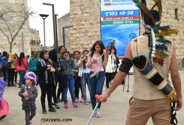 image Palestinian, Arab girls in Jerusalem, Purim  photo
