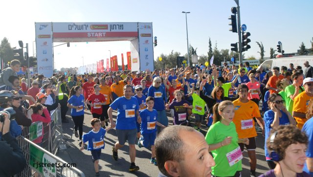 image Jerusalem marathon, photo marathon start, picture 10 k race