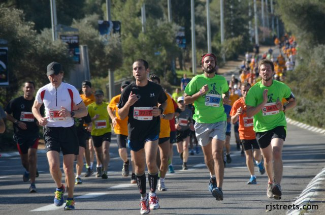 image runner, photo marathon runners Jerusalem, picture men running