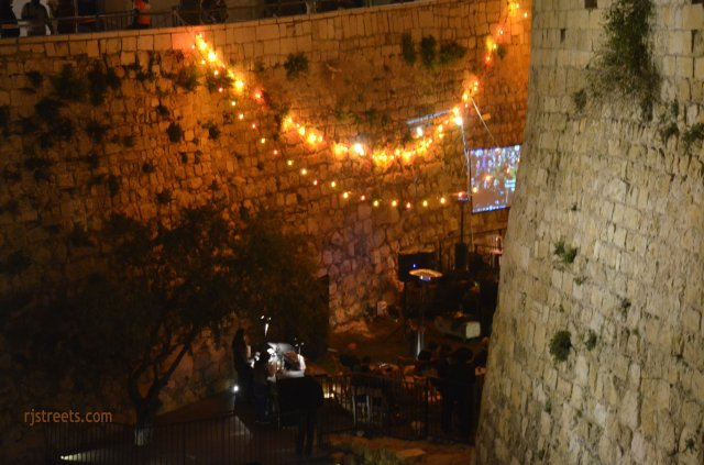 image moat, photo tower of David moat, picture Sounds of Old City music