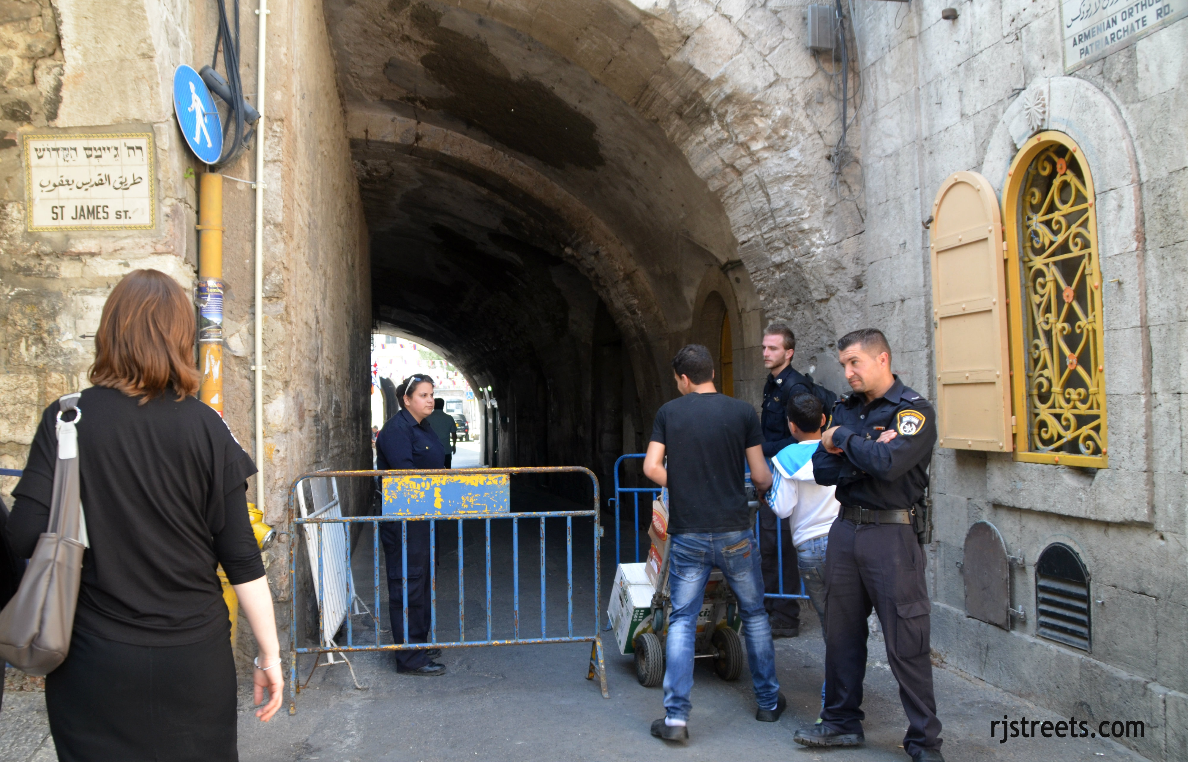 image Arab boys Old City, photo Israeli apartheid, picture streets closed Jerusalem