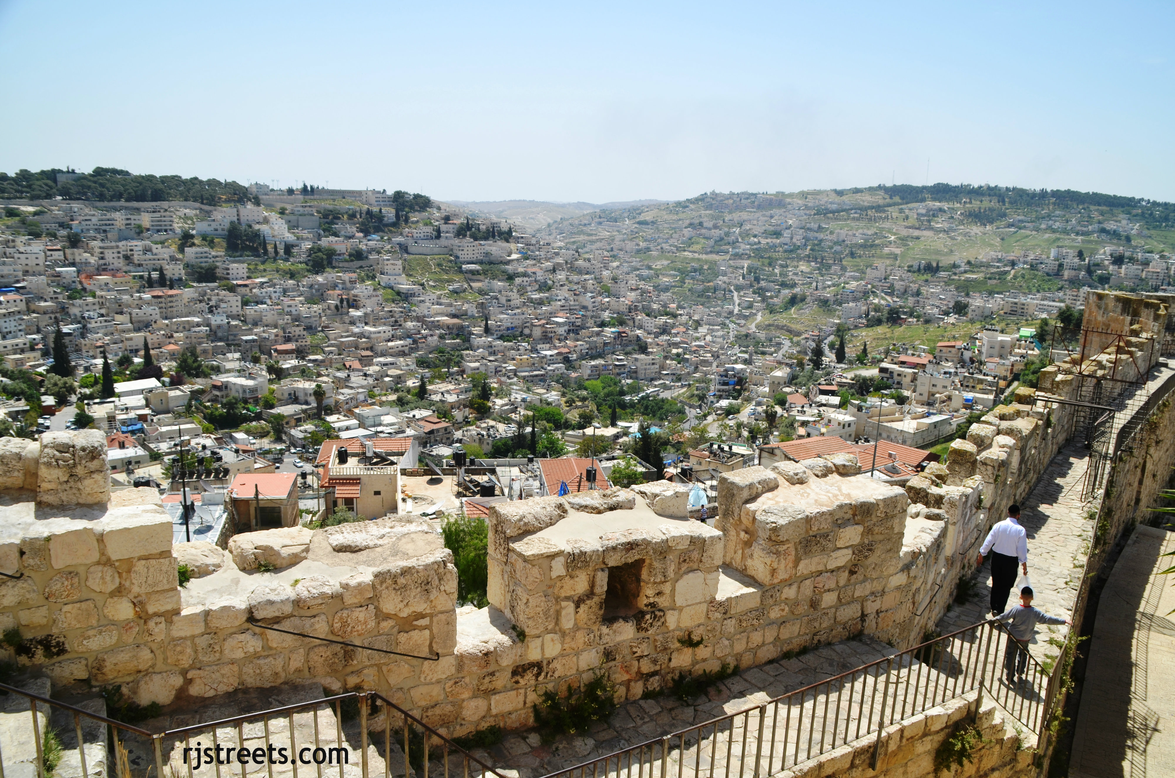 image Jerusalem, photo Silwan, picture from Old City walls