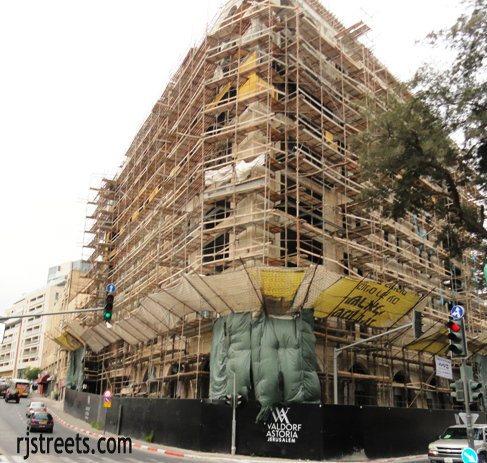 image hotel being built, Waldorf Astoria Jerusalem image. picture hotel