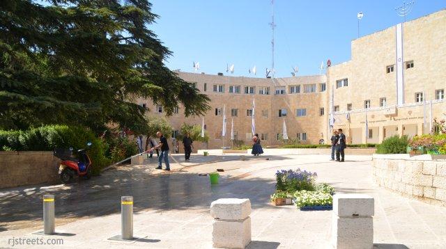 Israeli flags, Jewish Agency Building photo