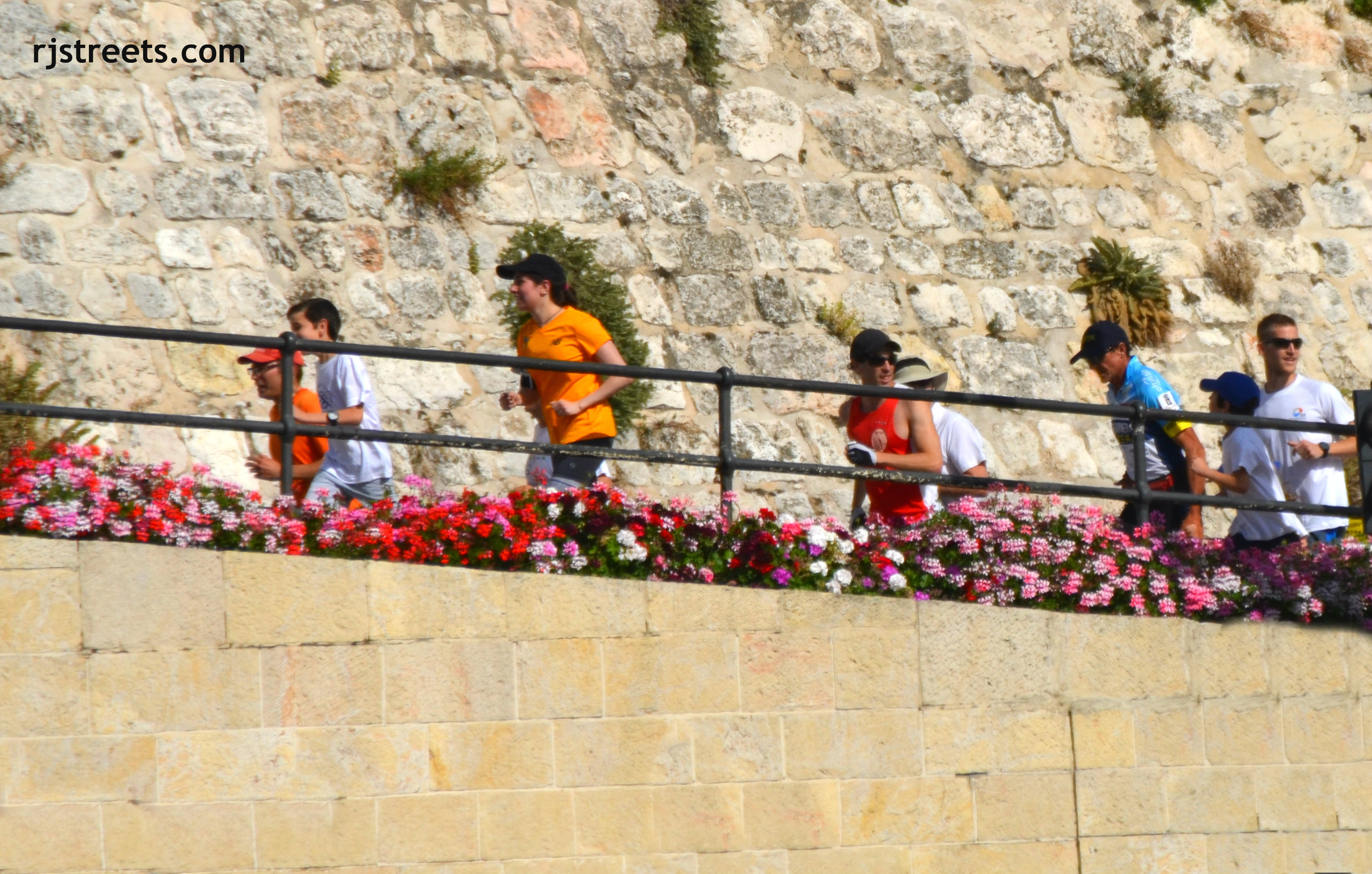 image Pat Farmer, photo runners near Jaffa Gate,