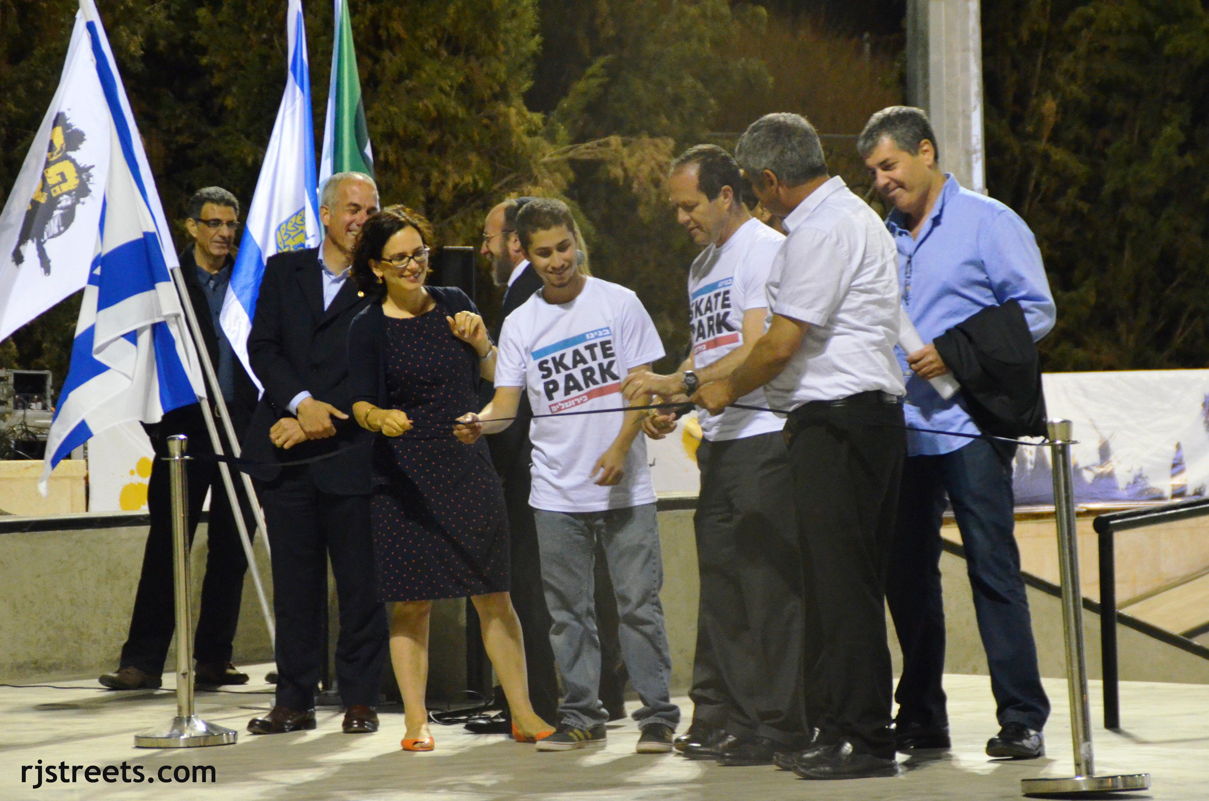 image Jerusalem skate park opening,