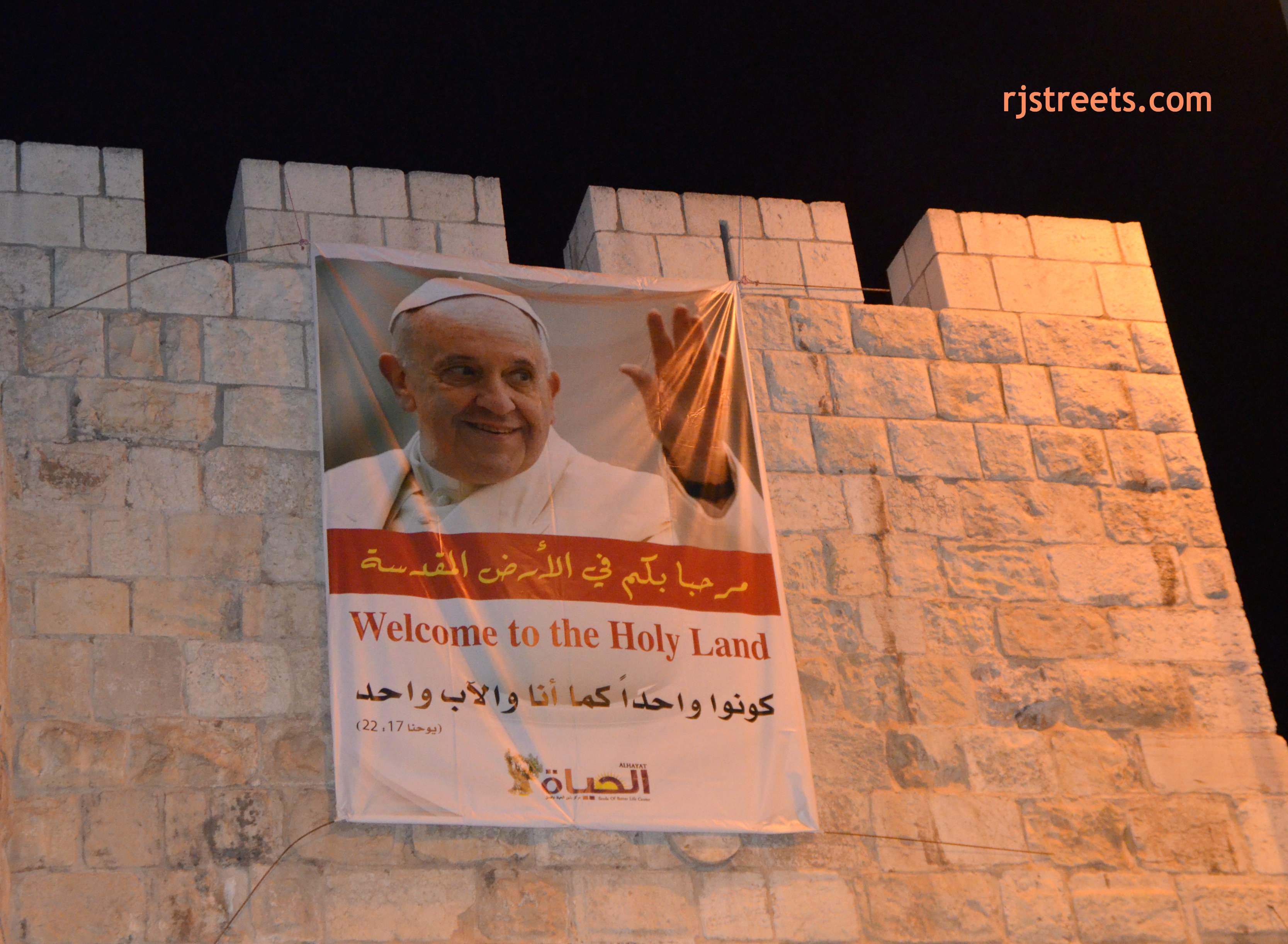 pope in jerusalem