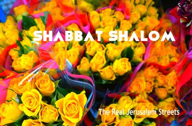 image Shabat shalom, photo yellow roses