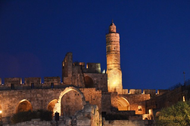 image Tower of David Museum at night