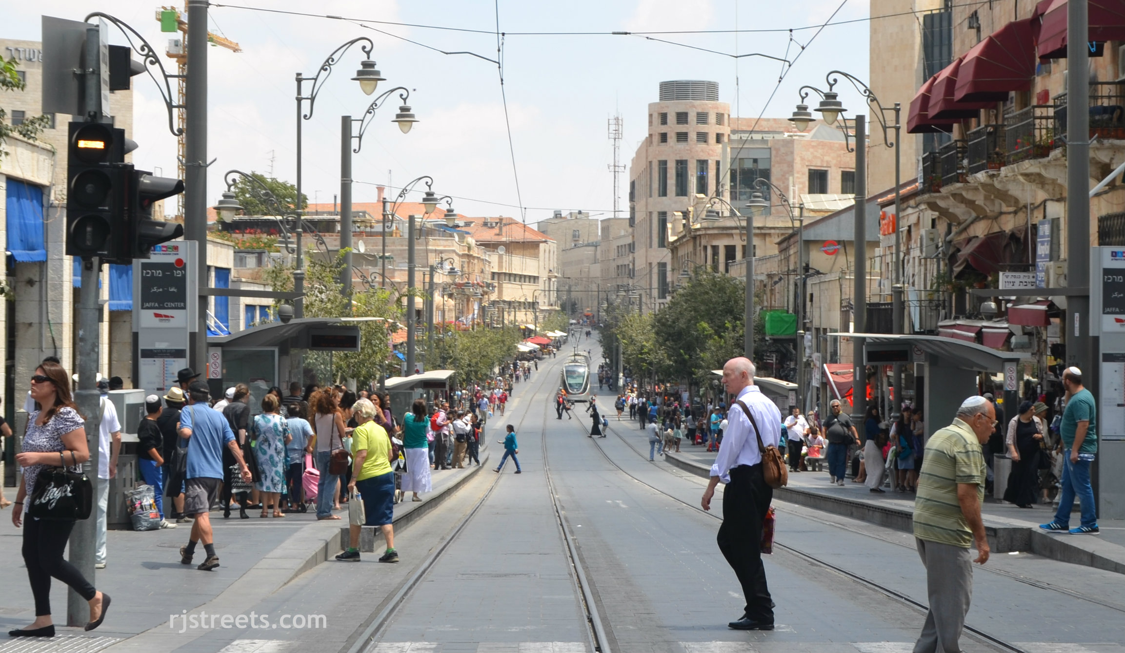 image light rail and Jaffa Street