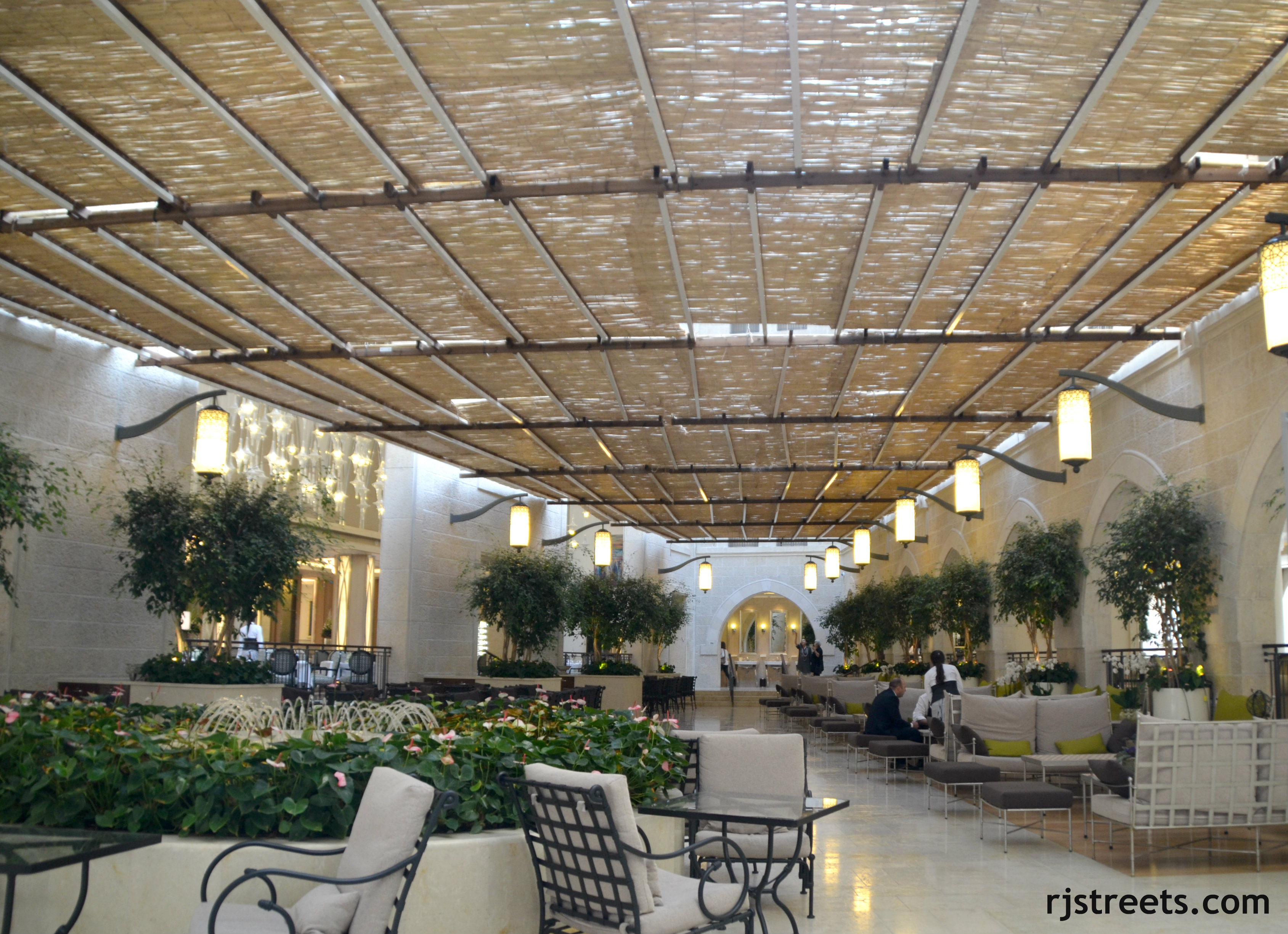 image sukka in atrium of Waldorf Astoria