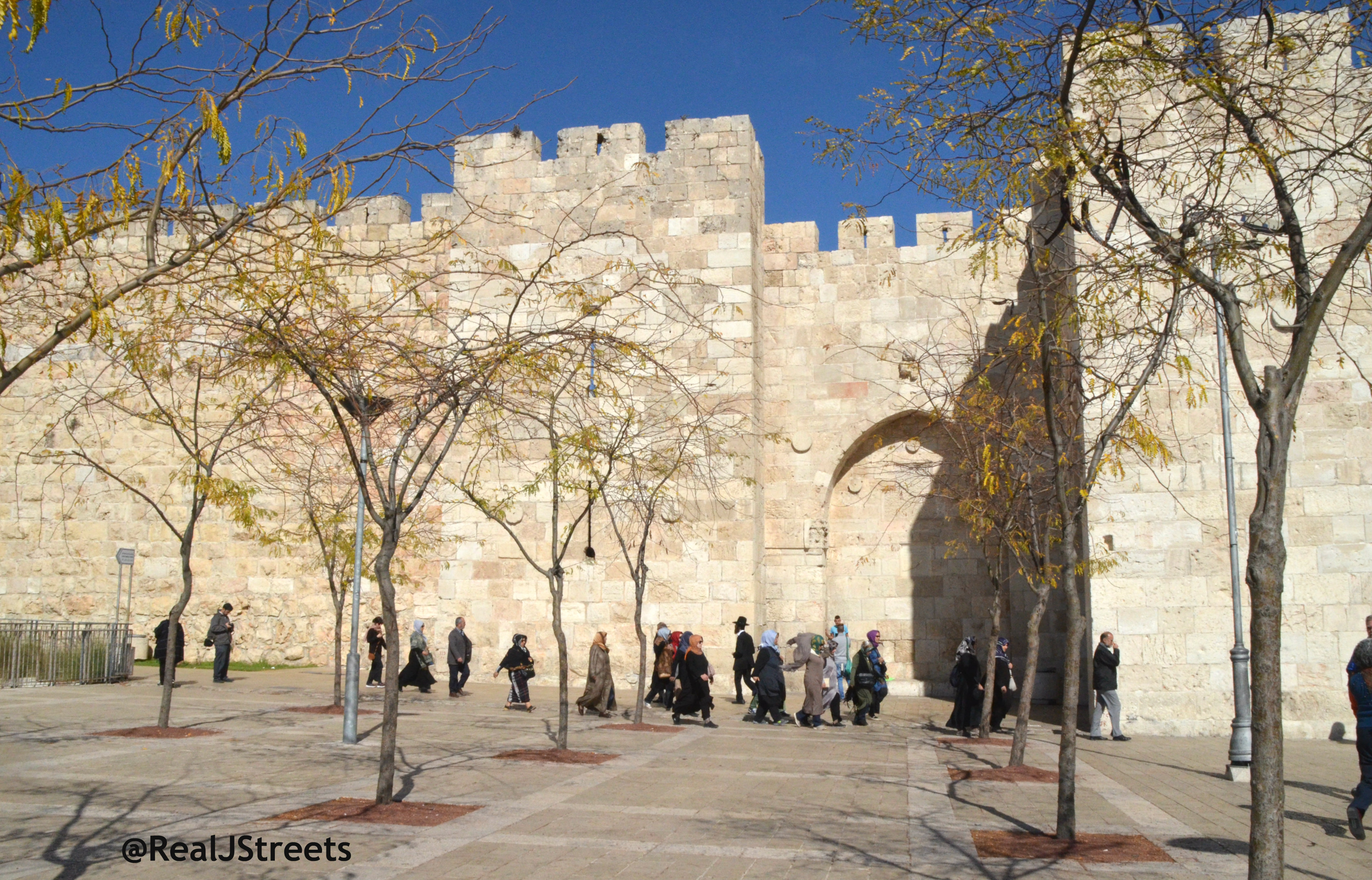 image people walking to old city by Jaffa gate