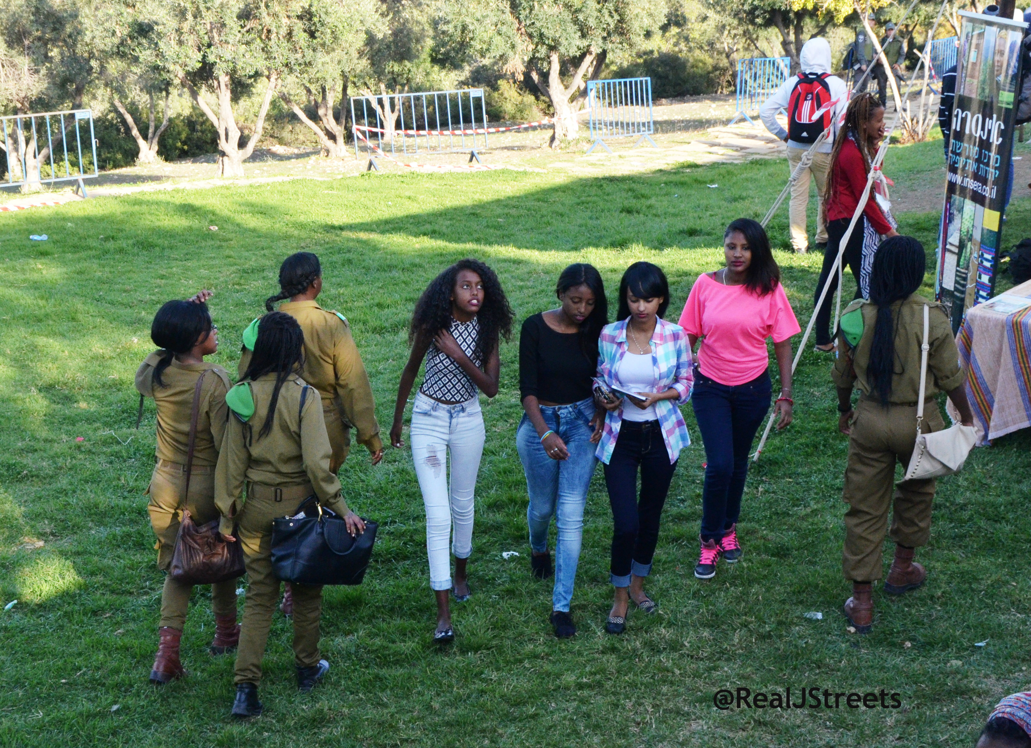 Ethiopian girls in IDF unifroms