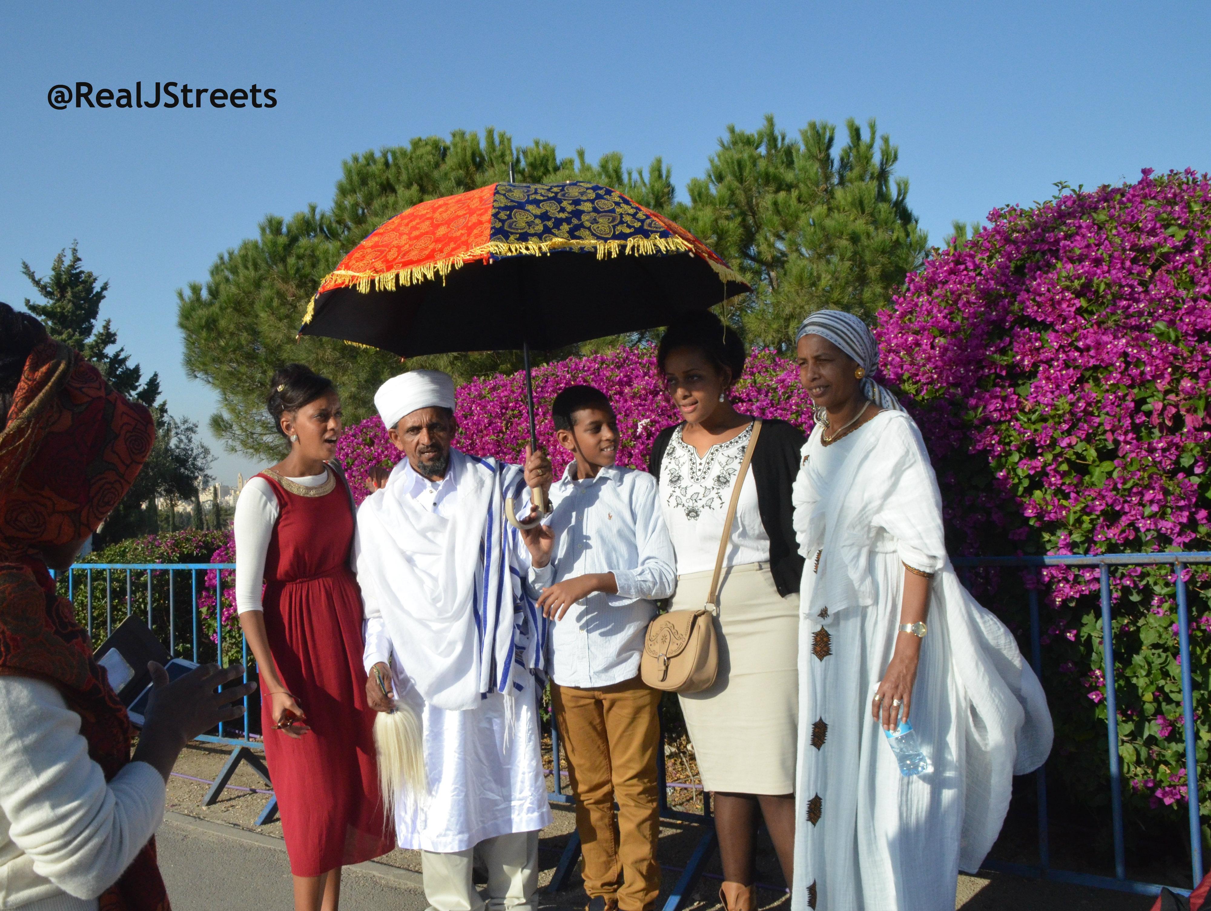 Ethiopian family at Sigd