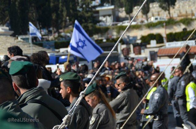 Israeli flag at funeral