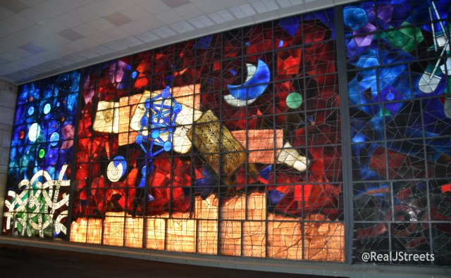 stained glass windows in Israel National Kibrary
