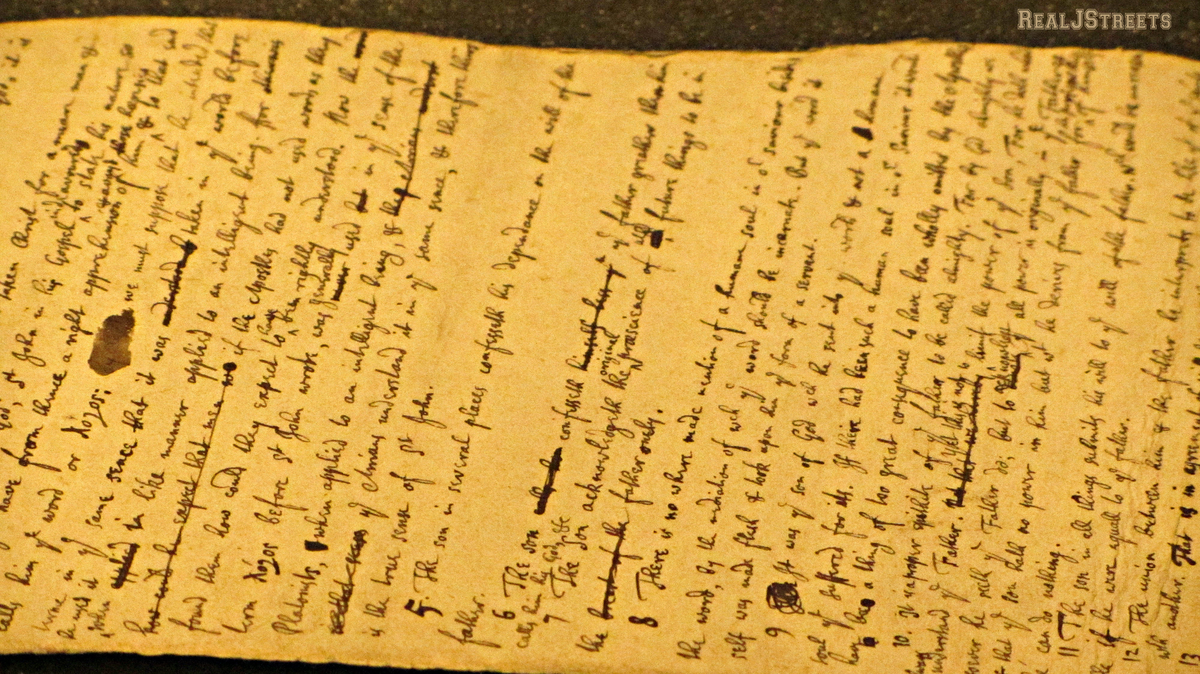 letter by Isaac Newton in Israel Library