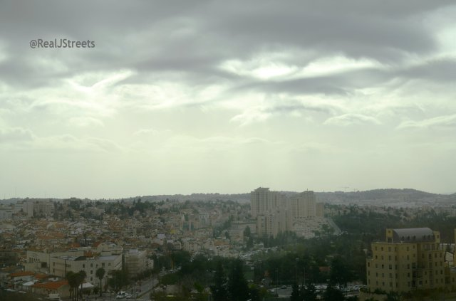 image grey sky over Jerusalem