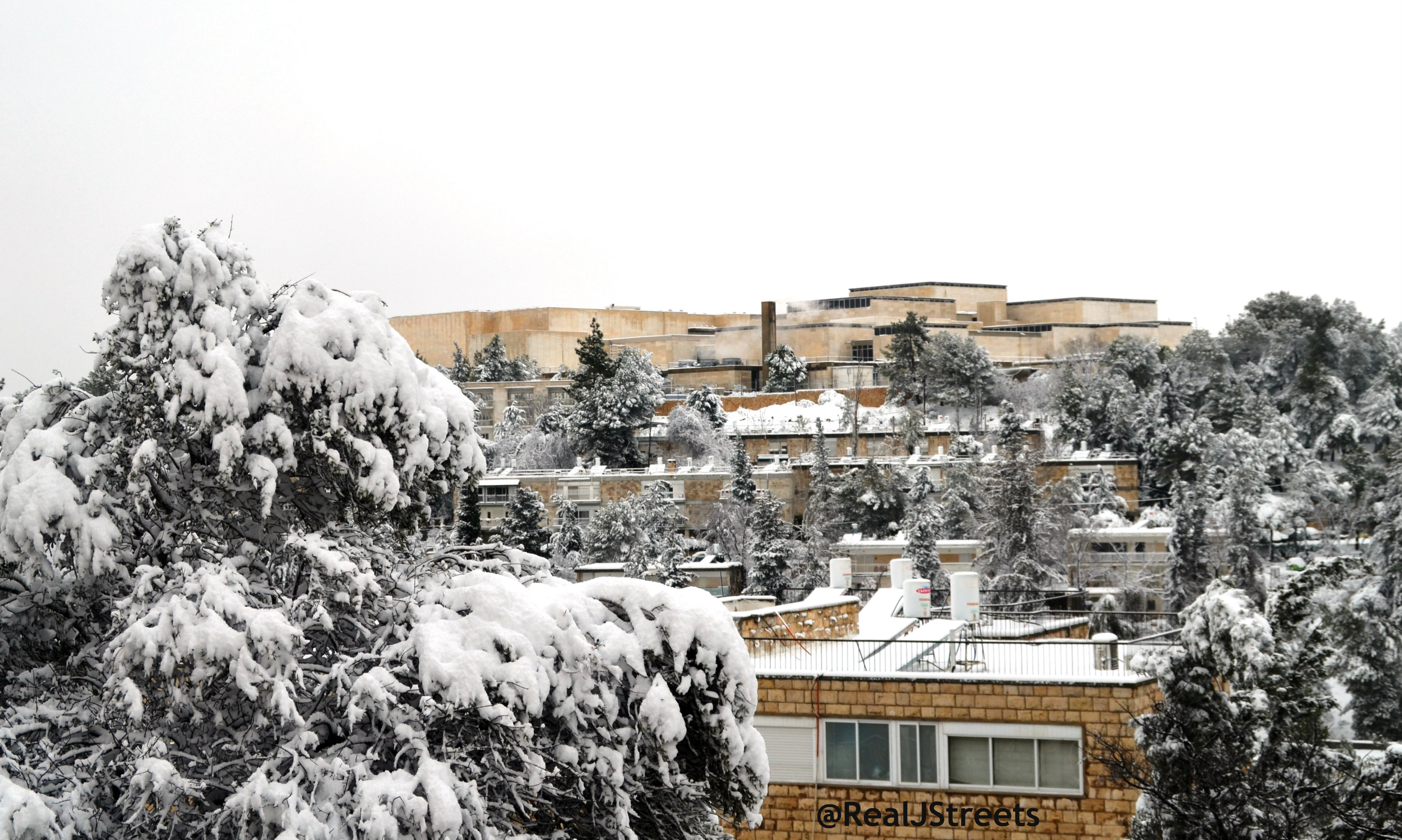 image israel museum in snow