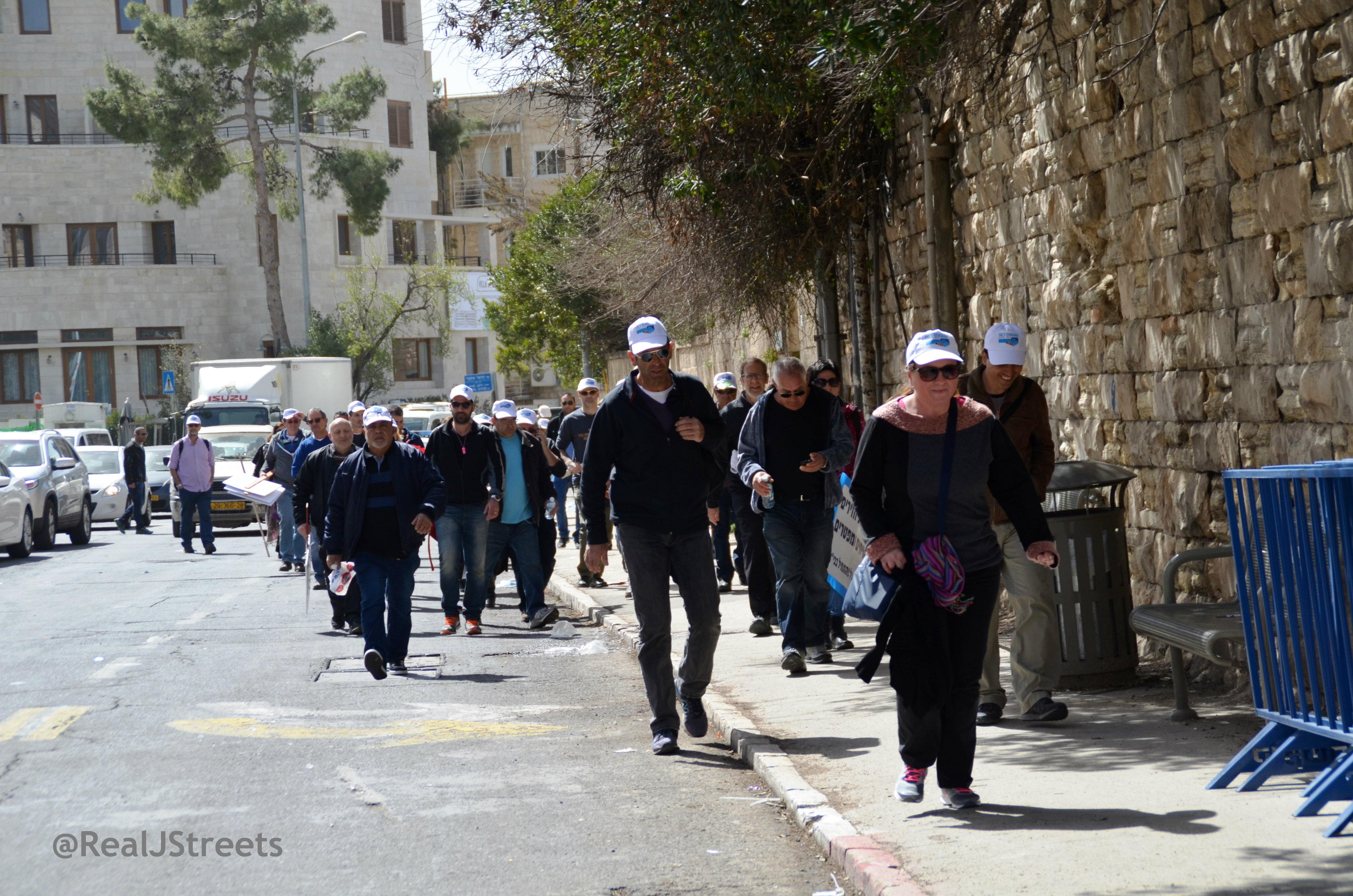 people leaving rally