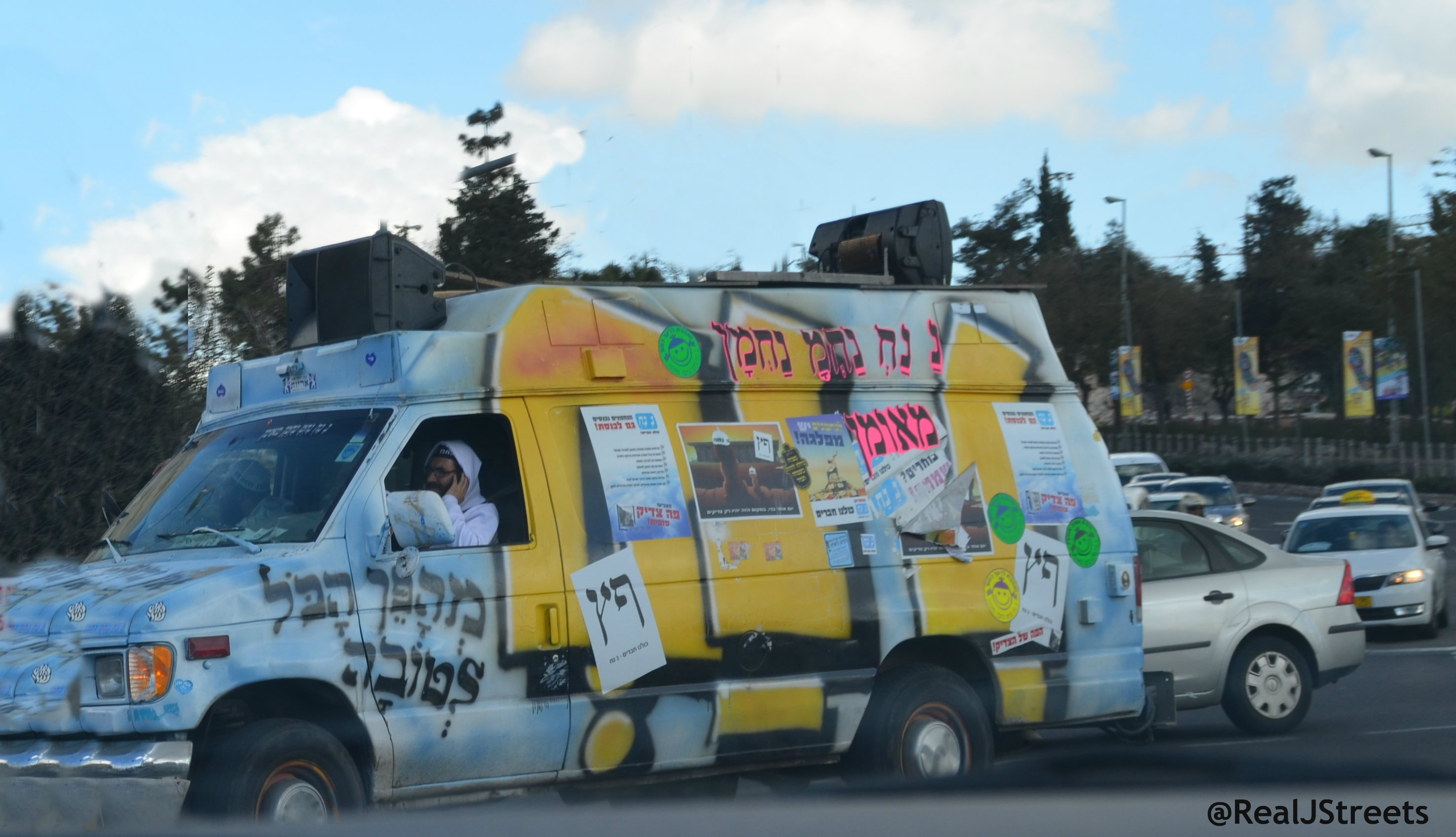truck fro Israeli elections