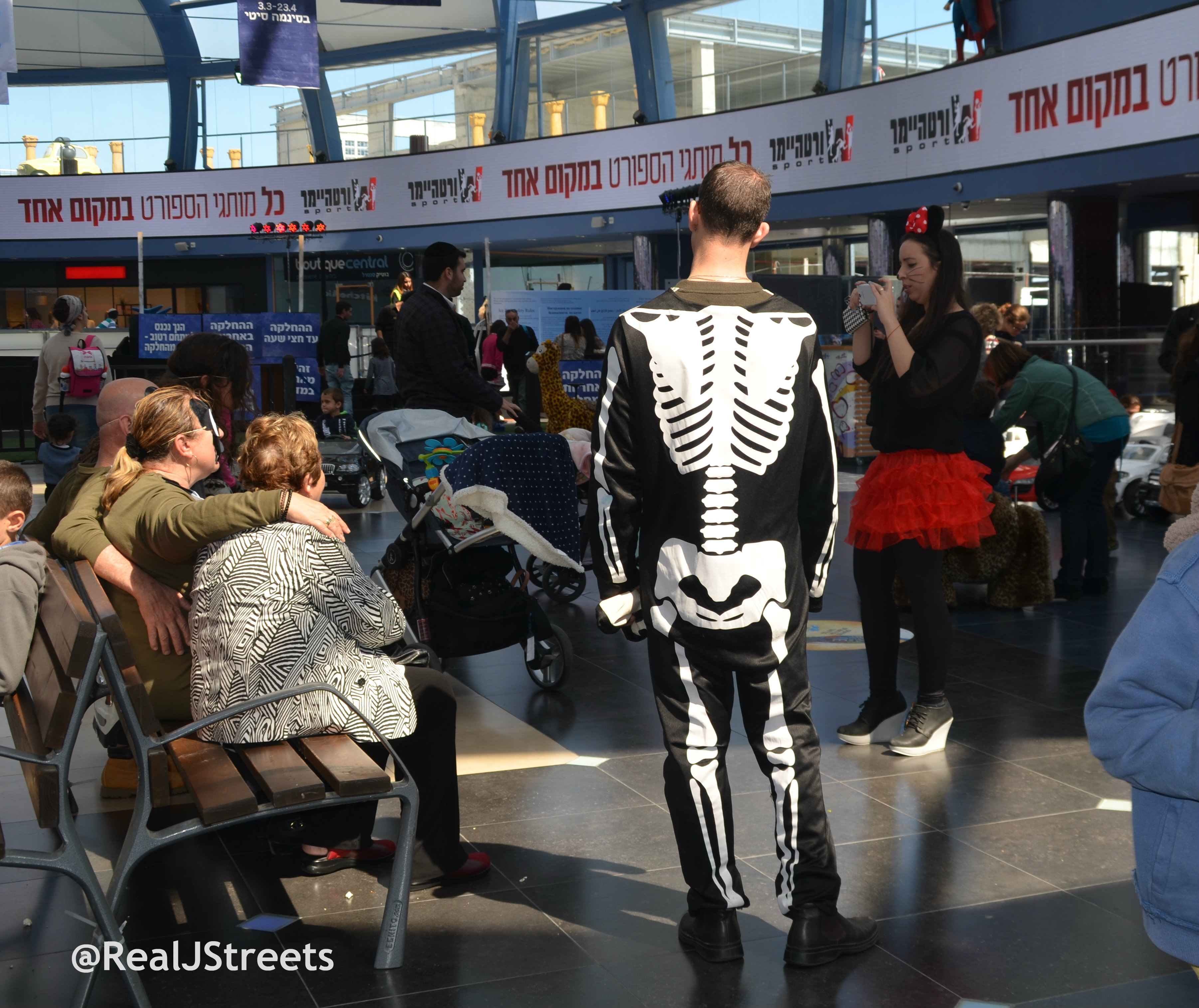 image man in skeleton costume