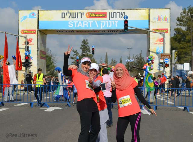 Arab girls in Jerusalem Marathon