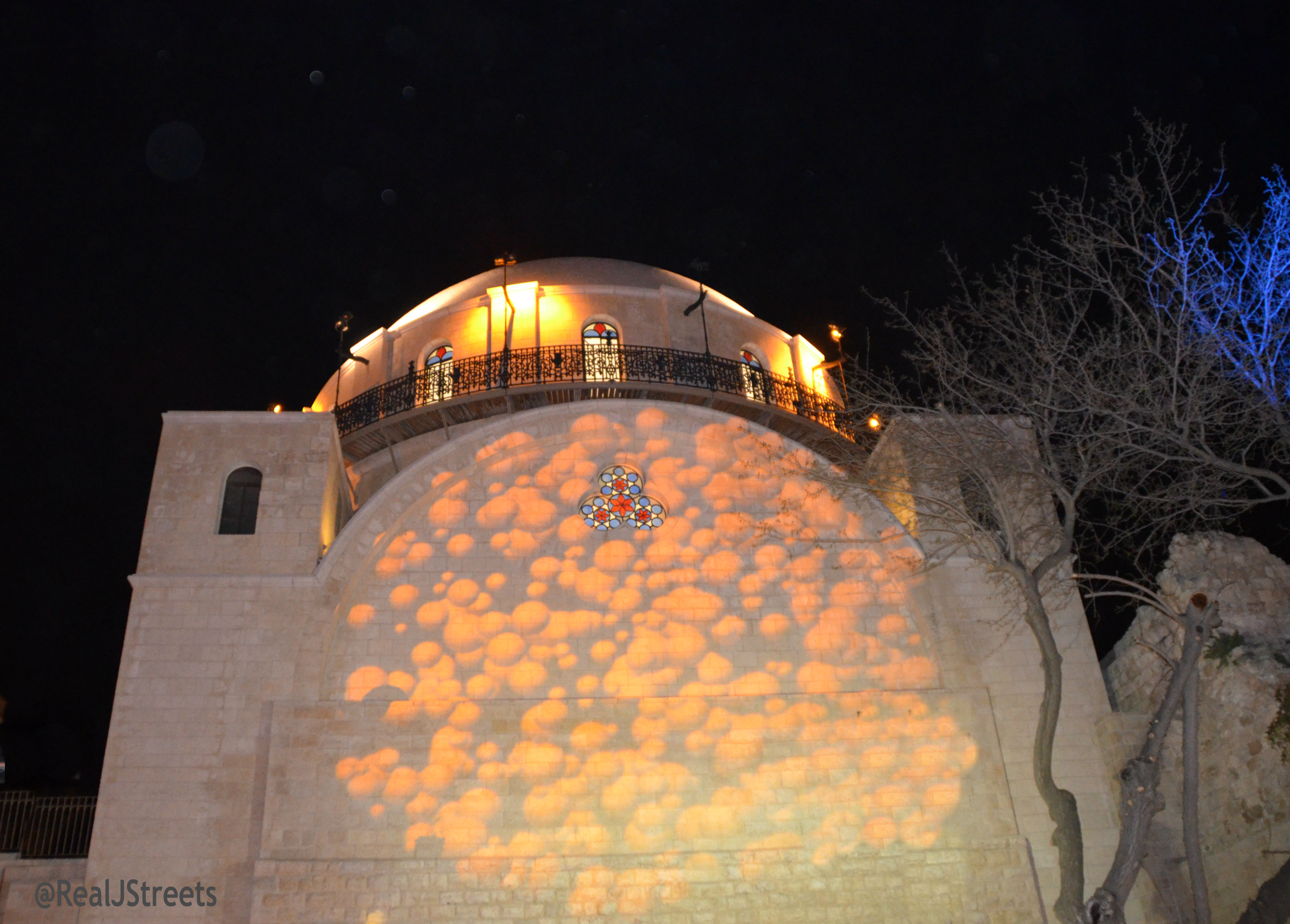 Hurva Shul at night