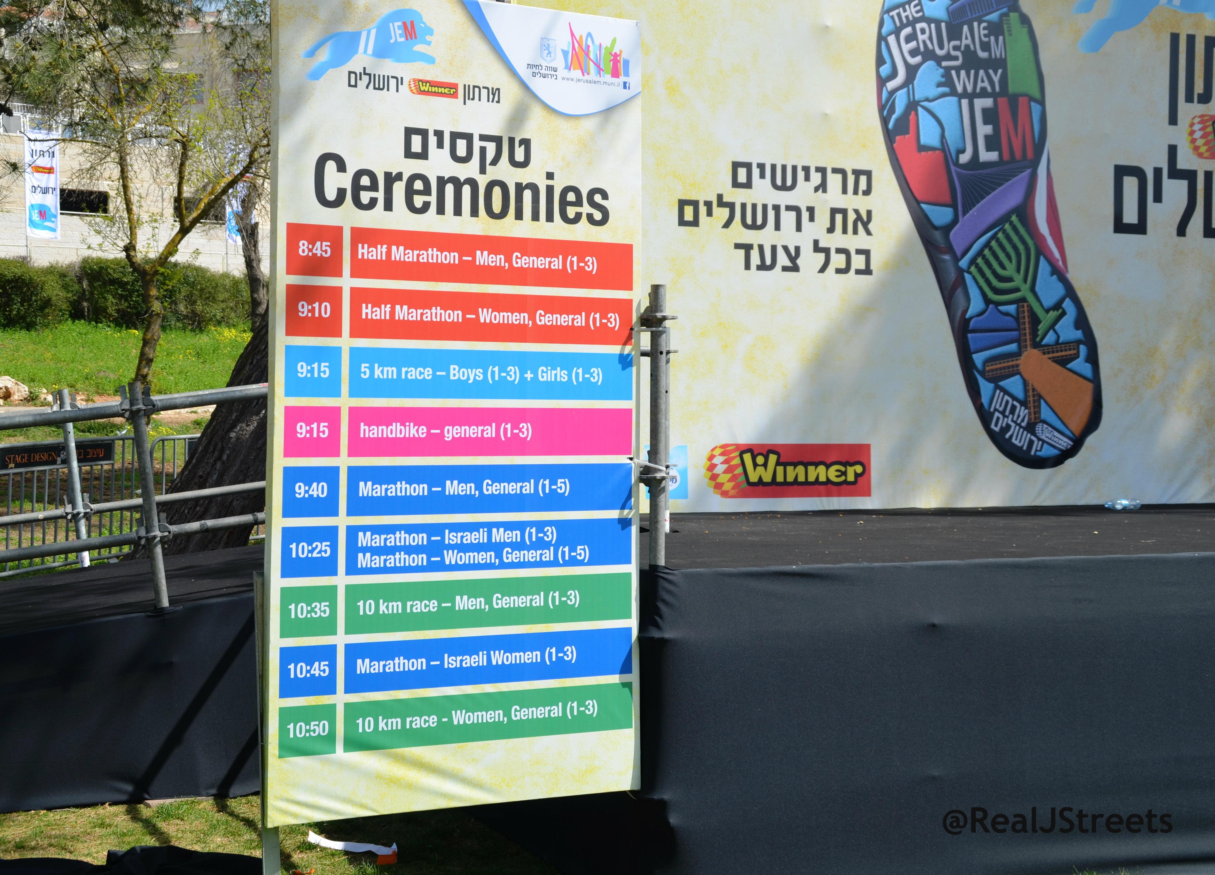 Sports Marathon ceremonies