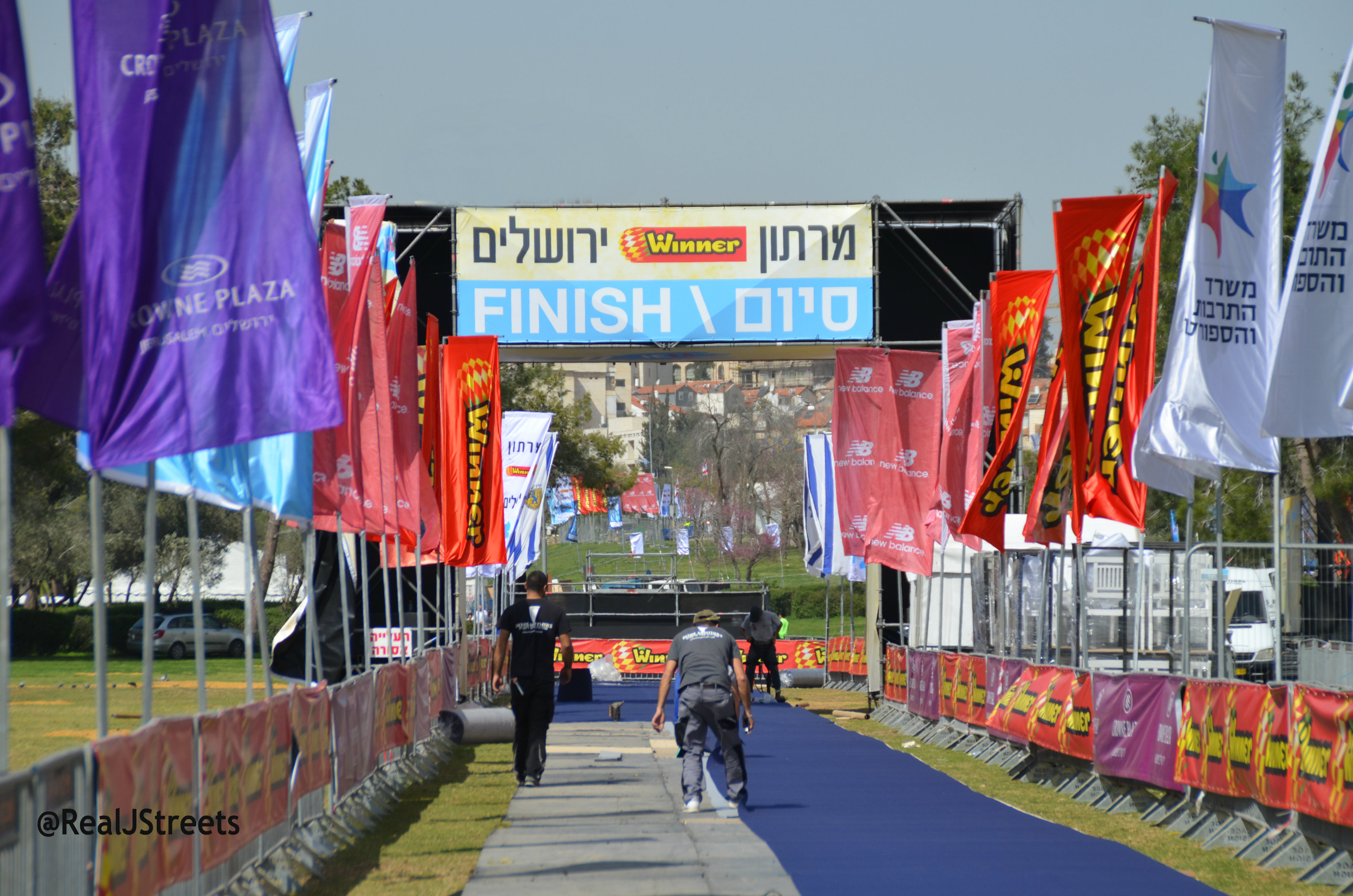 Sports Marathon Jerusalem finish line