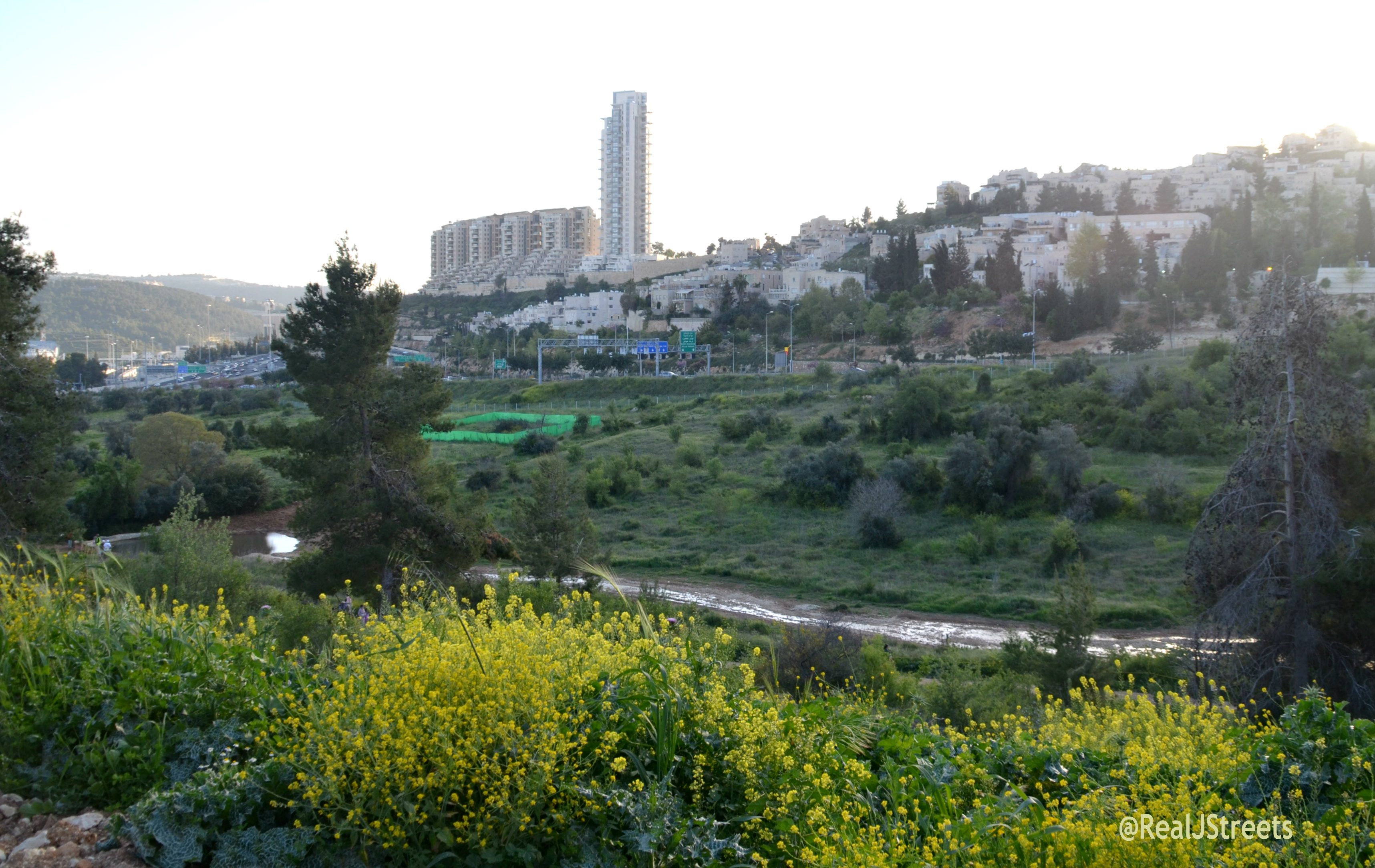 large nature park in Jerusalem, Israel