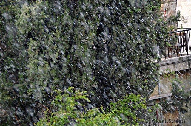 April hail storm in Jerusalem