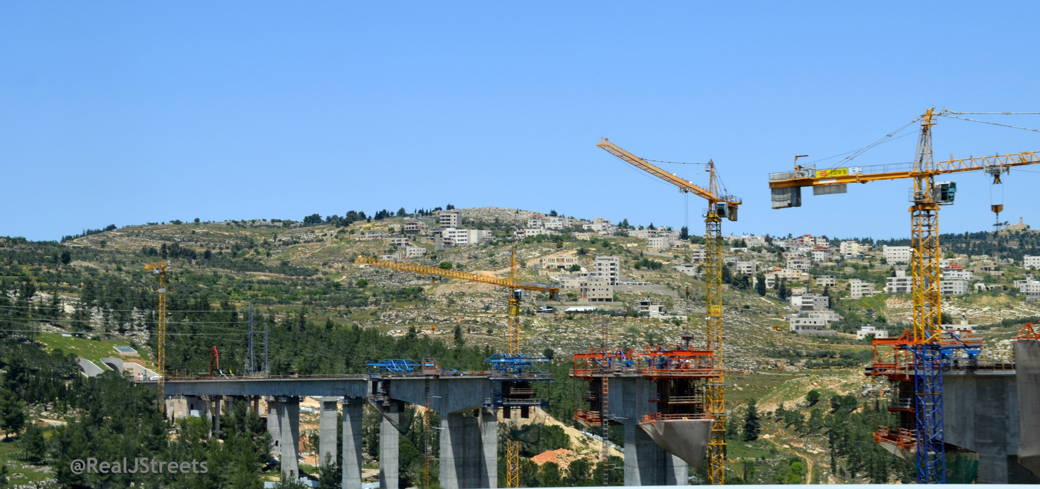 road construction outside Jerusalem
