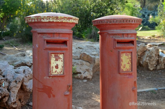 mail box in Yemin Moshe from British