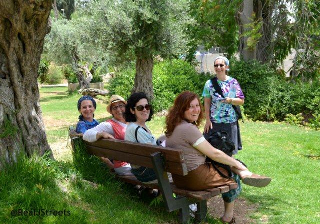 Yemin Moshe with friends