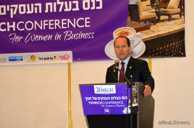 Mayor Barkat and temech