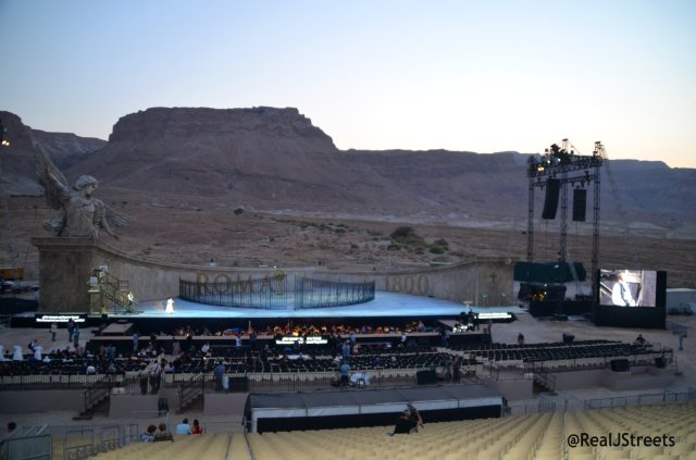 Tosca at Masada stage view
